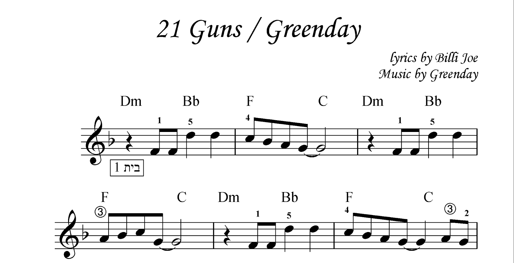 21 Guns - Greenday