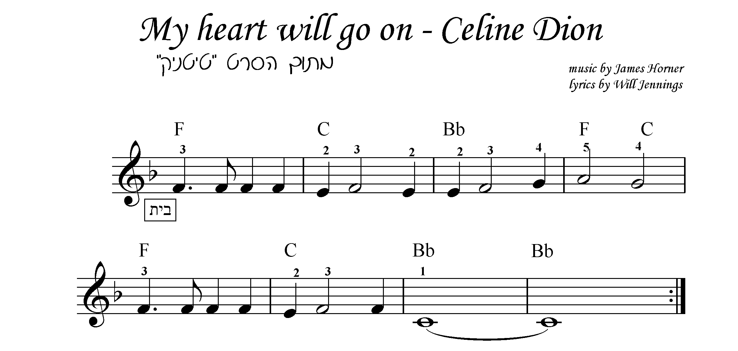 My heart will go on מתוך הסרט טיטניק